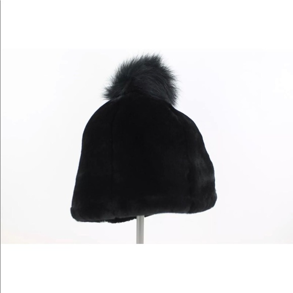 UGG Accessories - Ugg Exposed Fur Beanie Women's Black Small Pom Pom